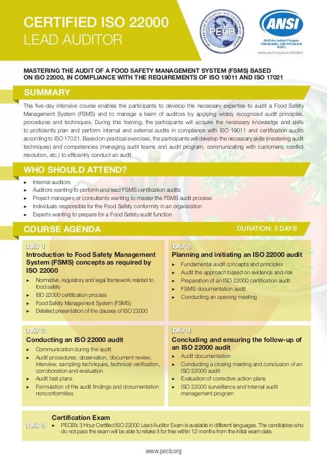 food safety certification test