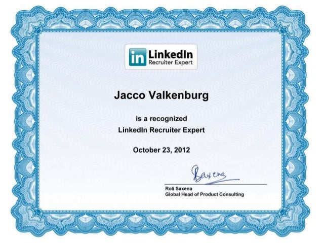 Certified LinkedIn Recruiter Expert