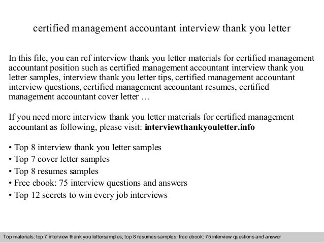 letter of thanks after an interview
