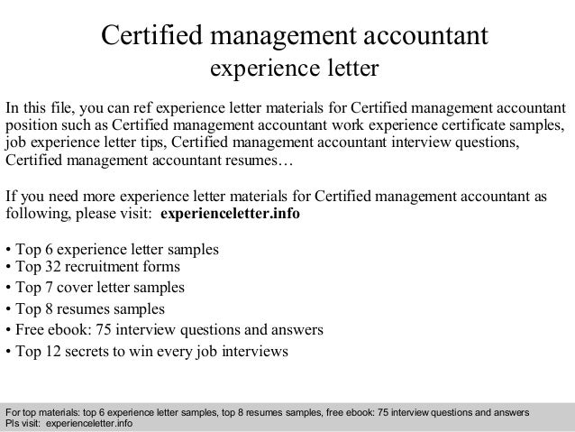 Certified Management Accountant Cover Letter idea gallery