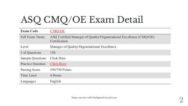 Enjoy 100% valid cmq-oe questions answers code gallery scn wiki.