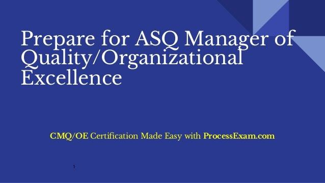 CMQ-OE Exam Dumps - Manager of Quality/Organizational ...