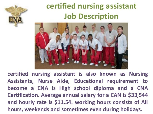 ... 4. Certified Nursing Assistant Job Description ...