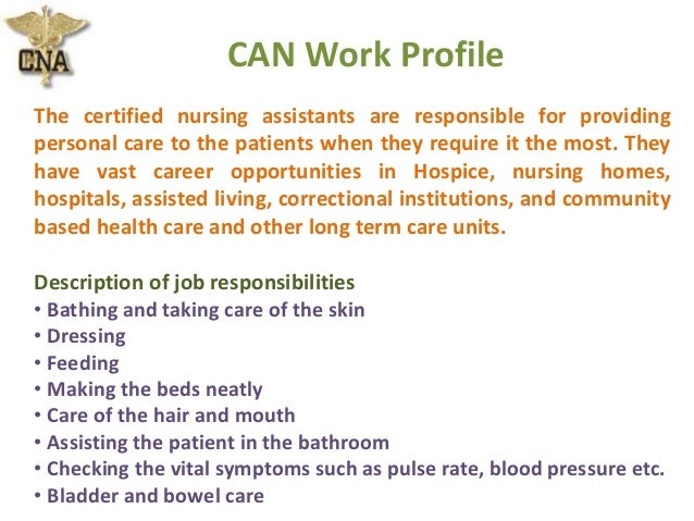 Nursing Assistant Job Description. Cna Resume Beginner Cna Resume ...