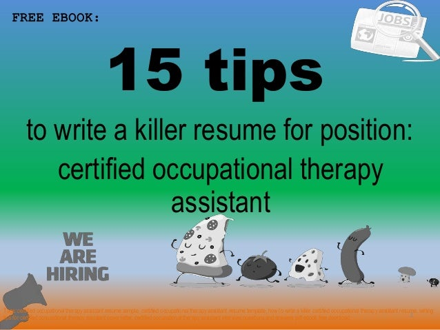 Certified Occupational Therapy Assistant Resume Sample Pdf