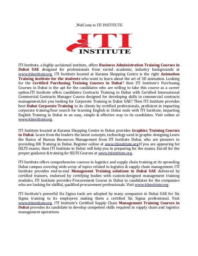 Certified Purchasing Training In Dubai Uae