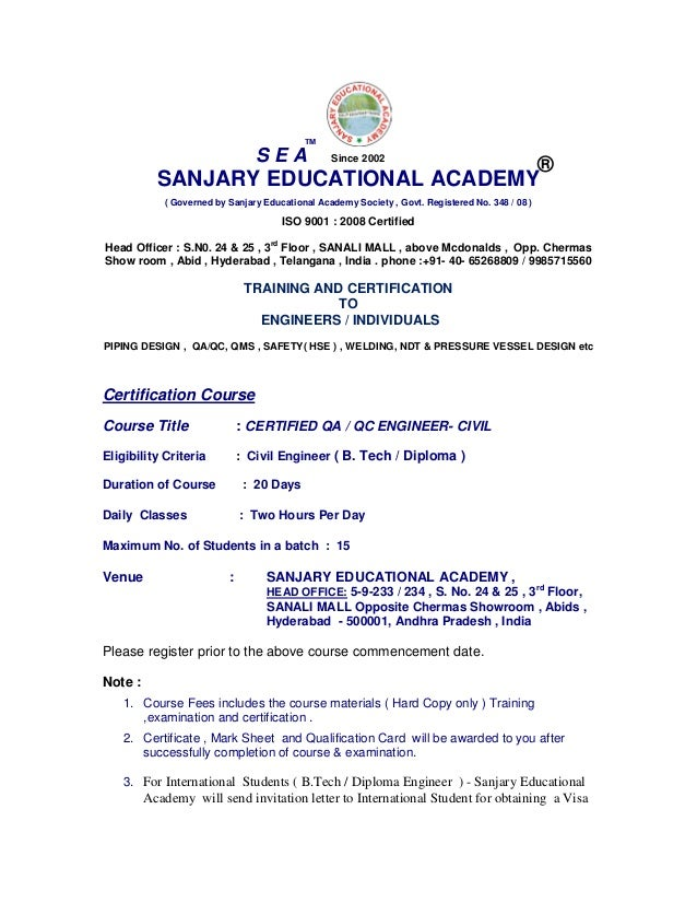 Certified Qa Qc Civil Engineer. Resume Rabbit. Warehouse Objective Resume. Web Development Resume Examples. Dialysis Technician Resume Sample. Mule Esb Resume. Telecommunications Resume. Electronic Technician Resume Objective. Freelance Work On Resume