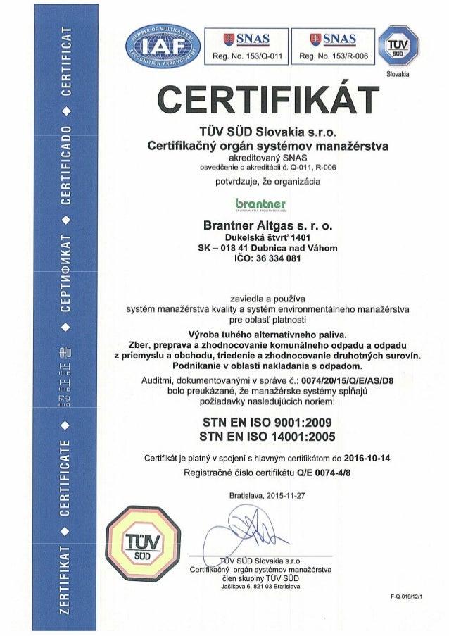 Certifikat TAP 20151127 platny 20161014
