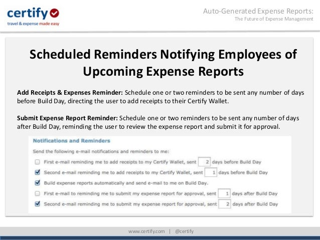 Auto Generated Expense Reports: The Future Of Expense Management; 34. ...  Auto Expense Report