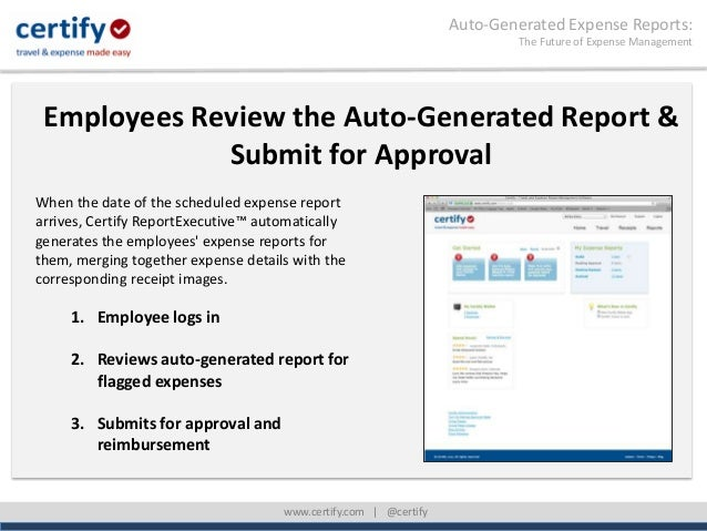 auto generated expense reports the future of expense management