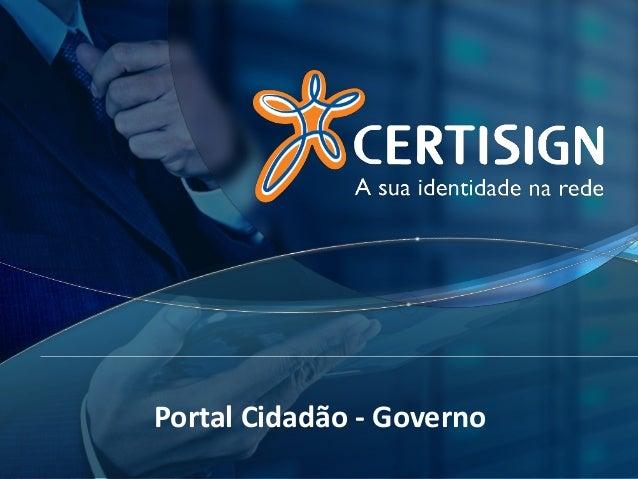 Portal Cidadão - Governo
