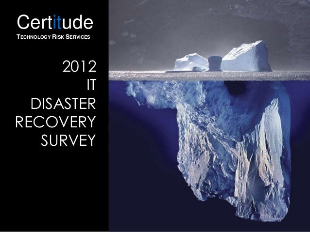 CertitudeTECHNOLOGY RISK SERVICES      2012         IT  DISASTERRECOVERY   SURVEY