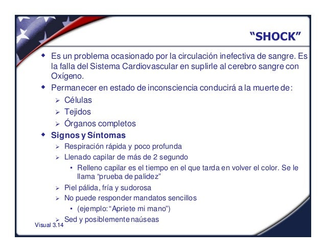 """Visual 3.14""""SHOCK""""w Es un problema ocasionado por la circulación inefectiva de sangre. Esla falla del Sistema Cardiovascul..."""