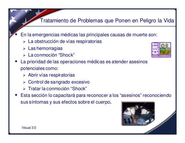 Visual 3.5Tratamiento de Problemas que Ponen en Peligro la Vidaw En la emergencias médicas las principales causas de muert...