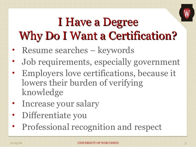 Demystifying Professional Certifications Slide 3