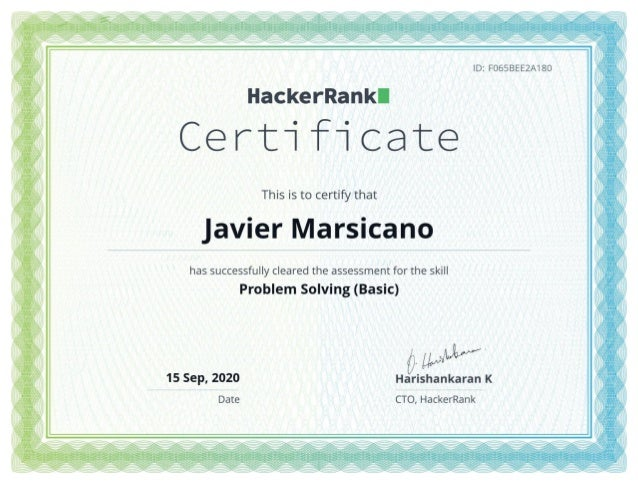 Software development certificates