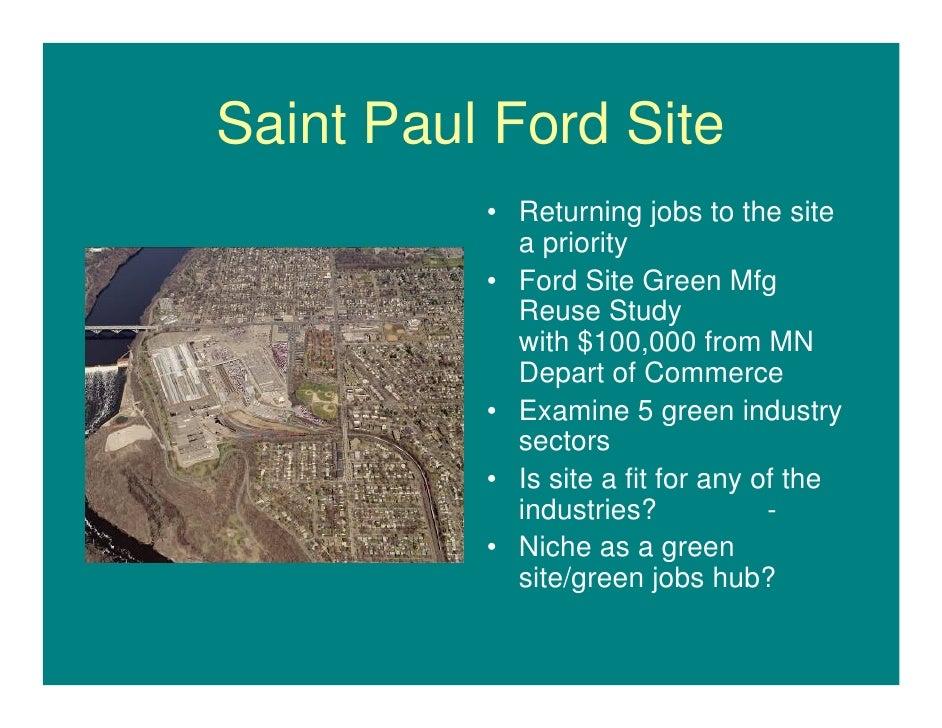 St. Paul\'s Green Manufacturing Initiative