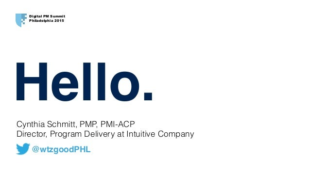 Cynthia Schmitt, PMP, PMI-ACP 