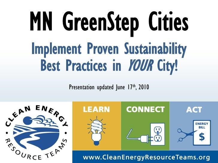Introduction to Minnesota GreenStep Cities