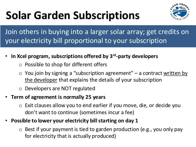 Shoreview Community Solar Gardens 101