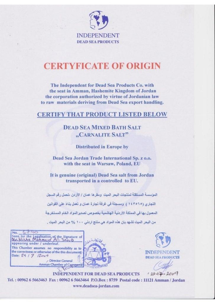 Certyfikat karnalit independent