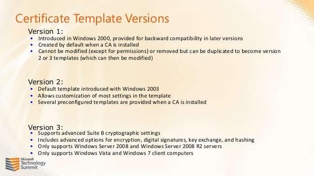 Certyfikaty od podszewki w oparciu o pki w windows 2008 mts 2011 certificate template versions yadclub Images