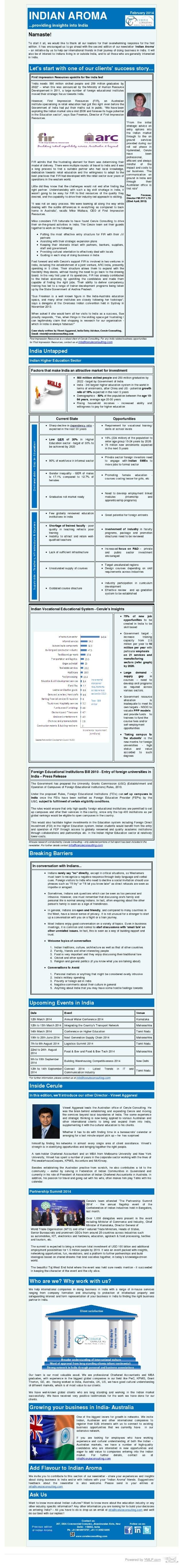 Cerule Newsletter February 2014