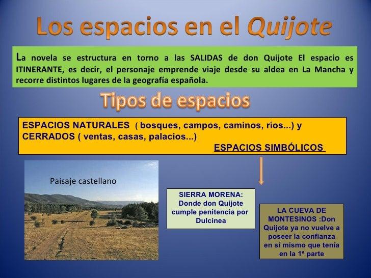 ESPACIOS NATURALES  (  bosques, campos, caminos, ríos...) y CERRADOS ( ventas, casas, palacios...)   ESPACIOS SIMBÓLICOS  ...