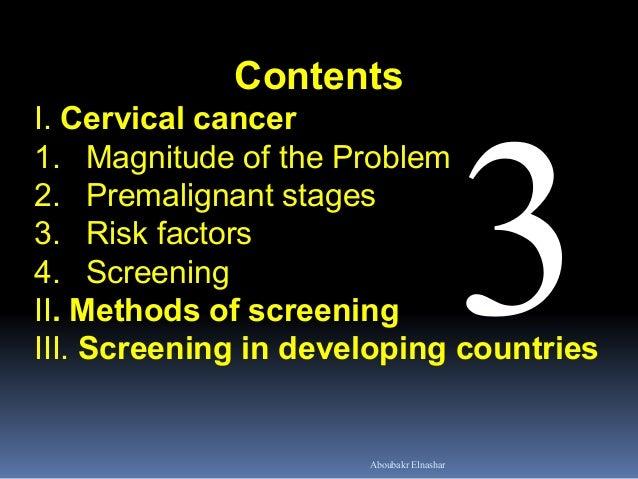 Screening for  cervical cancer Slide 2