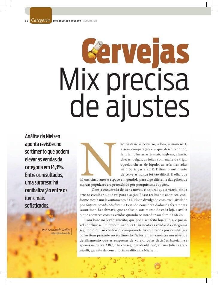 56   Categoria     SUPERMERCADO MODERNO • AGOSTO 2011                                         Cervejas                    ...