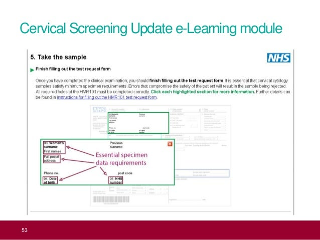 Launch Of Updated Cervical Screening Programme Sample Taker E Learnin