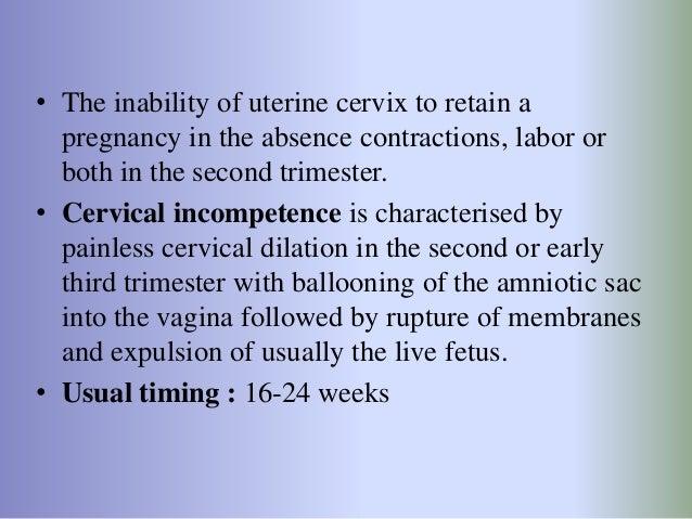 Cervical incompetence Slide 2