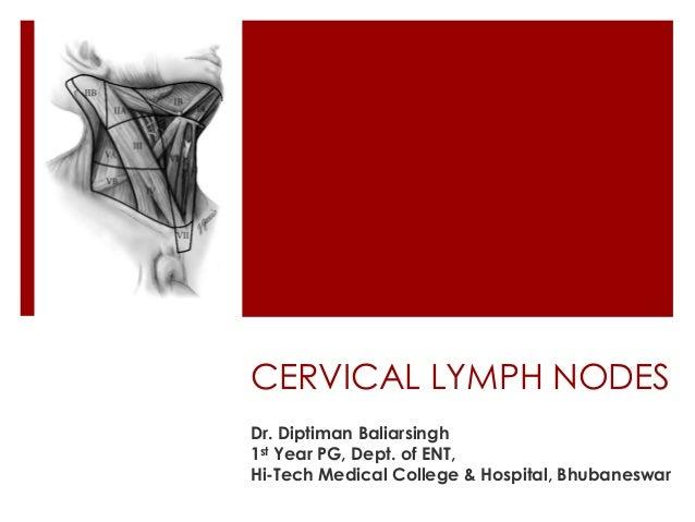 CERVICAL LYMPH NODES Dr. Diptiman Baliarsingh 1st Year PG, Dept. of ENT, Hi-Tech Medical College & Hospital, Bhubaneswar