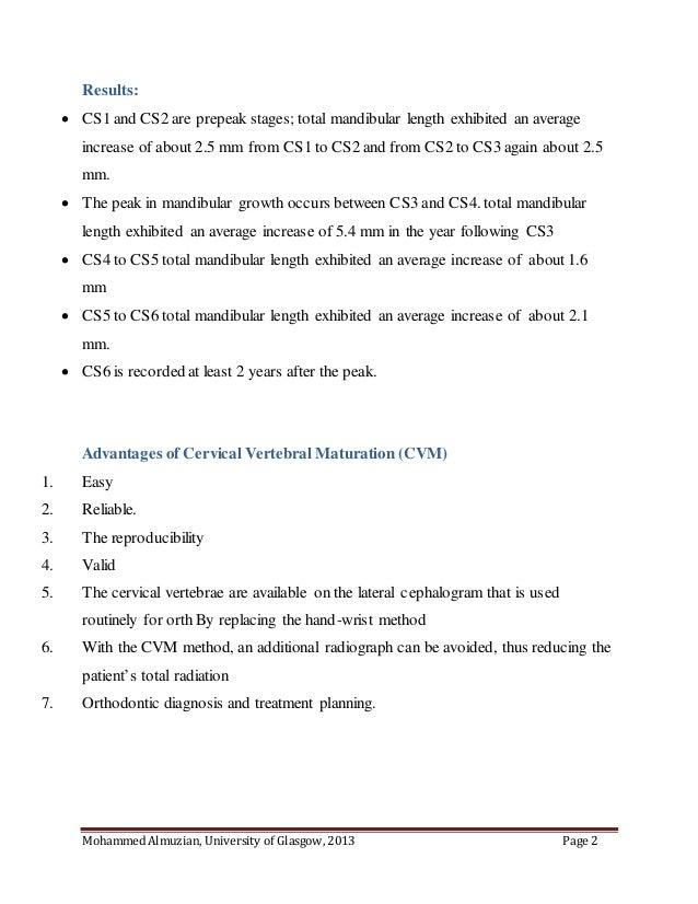 Cervical Vertebral Maturation Cvm For Orthodontists By