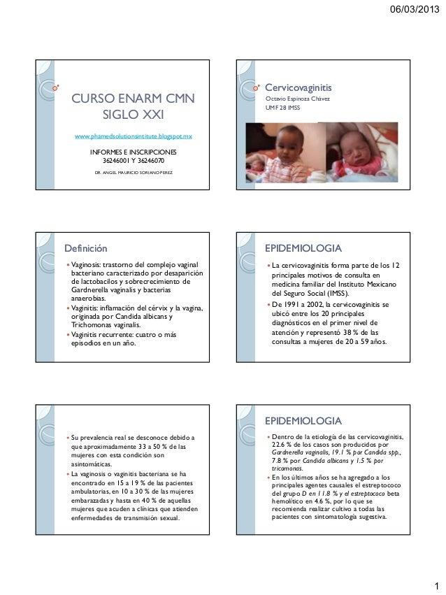 06/03/2013                                                   Cervicovaginitis    CURSO ENARM CMN                          ...