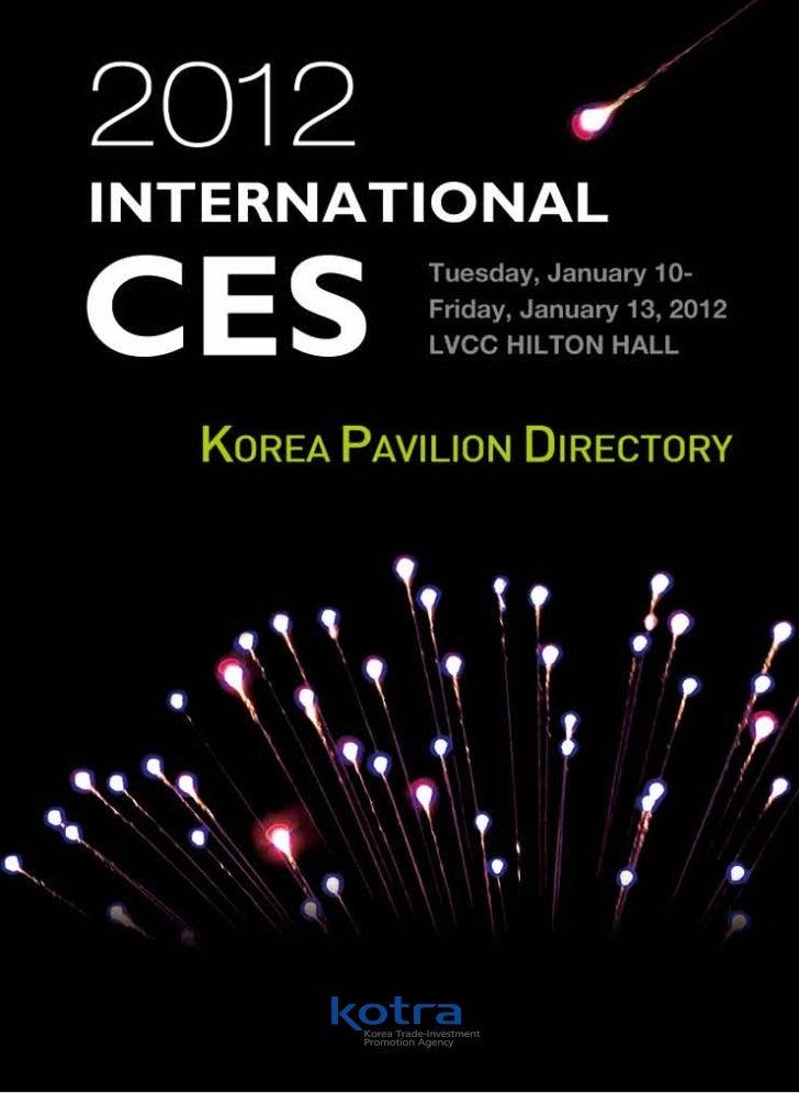 2012 INTERNATIONAL CES                                                                                                    ...