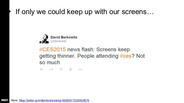 If only we could keep up with our screens… More: https://twitter.com/dberkowitz/status/552936173333528576