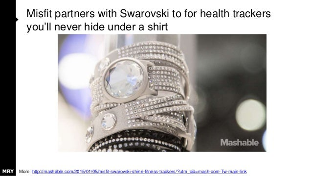 Misfit partners with Swarovski to for health trackers you'll never hide under a shirt More: http://mashable.com/2015/01/05...