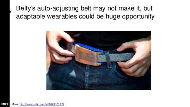 Belty's auto-adjusting belt may not make it, but adaptable wearables could be huge opportunity More: http://www.cnbc.com/i...