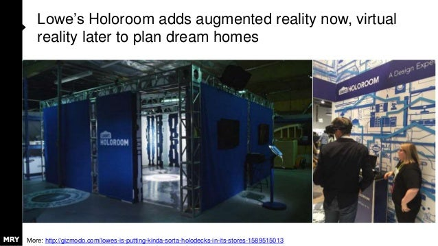 Lowe's Holoroom adds augmented reality now, virtual reality later to plan dream homes More: http://gizmodo.com/lowes-is-pu...