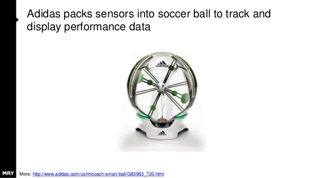 Adidas packs sensors into soccer ball to track and display performance data More: http://www.adidas.com/us/micoach-smart-b...