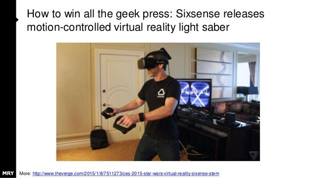 How to win all the geek press: Sixsense releases motion-controlled virtual reality light saber More: http://www.theverge.c...