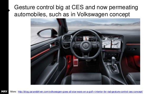 Gesture control big at CES and now permeating automobiles, such as in Volkswagen concept More: http://blog.caranddriver.co...