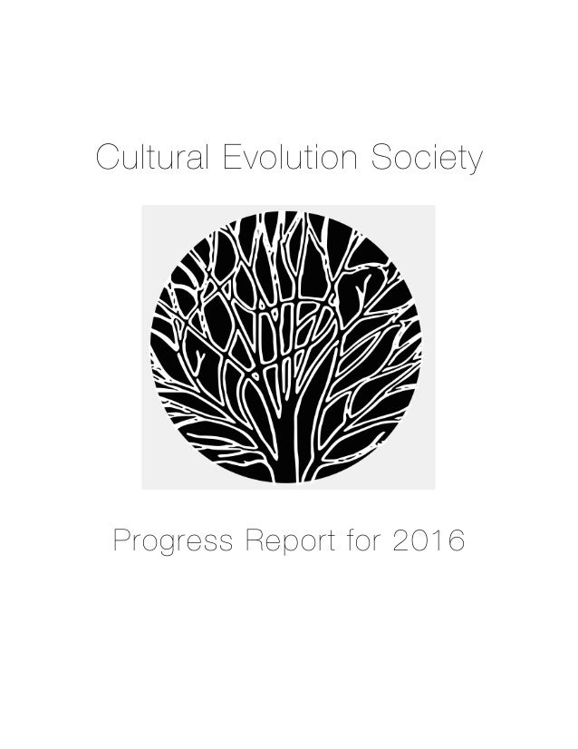 Cultural Evolution Society Progress Report for 2016