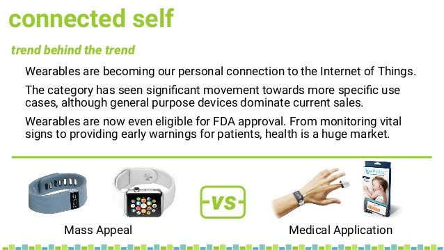 connected self Wearables are becoming our personal connection to the Internet of Things. The category has seen significant ...