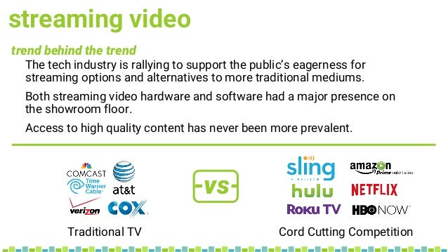 streaming video trend behind the trend -vs- The tech industry is rallying to support the public's eagerness for streaming ...