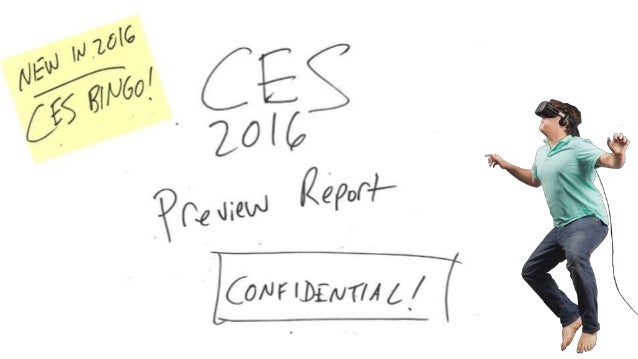 CES 2016 Preview Report
