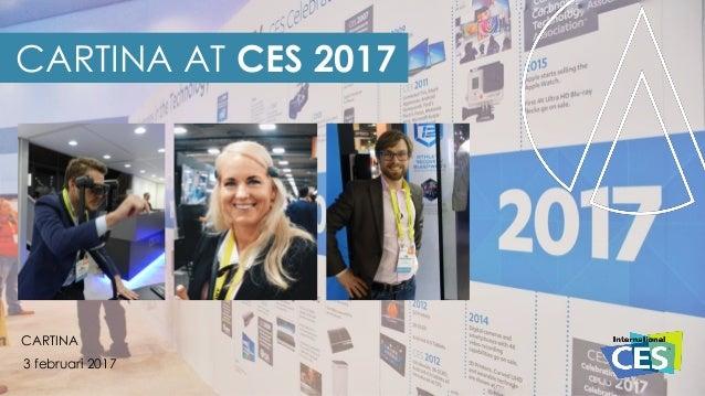 CARTINA AT CES 2017 CARTINA 3 februari 2017