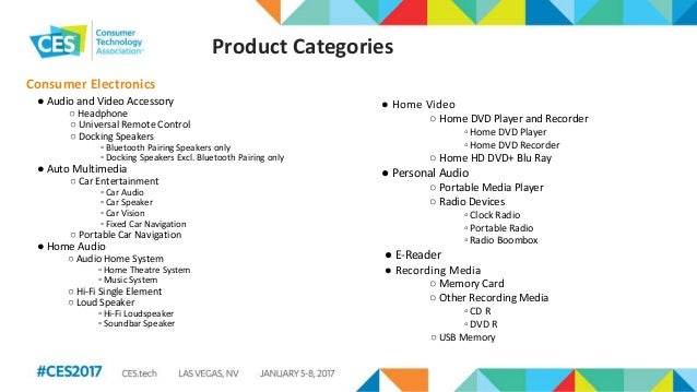 CES 2017 Exploring the Global Consumer Tech Industry Slide 3