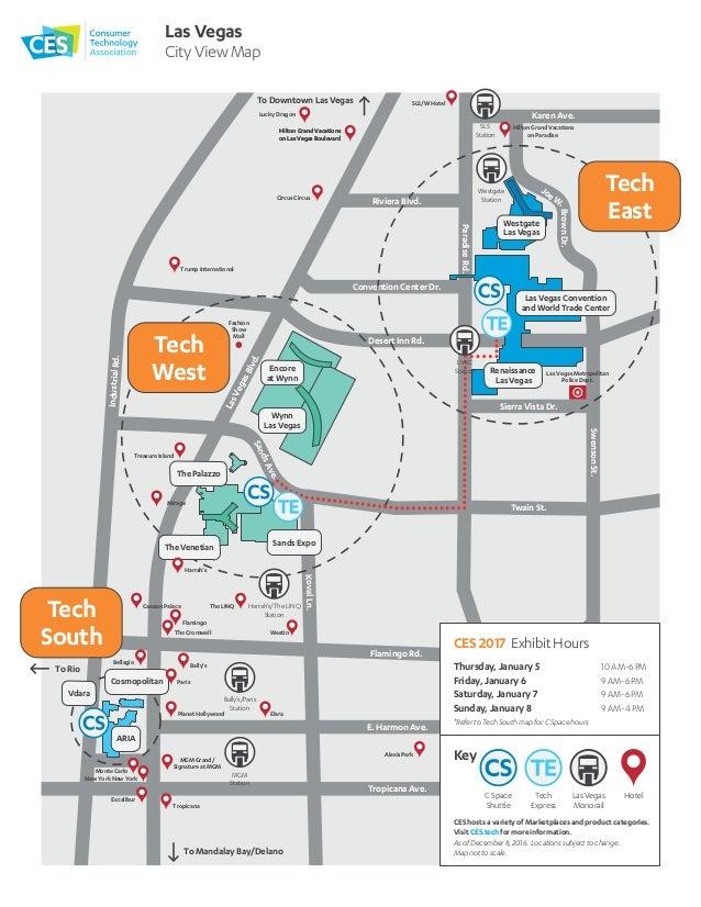 CES 2017 Show Floor Maps